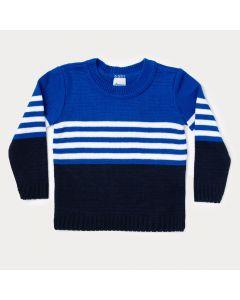 Suéter Infantil Azul Marinho para Menino
