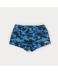 Sunga com Proteção UV para Menino Camuflada Marinho