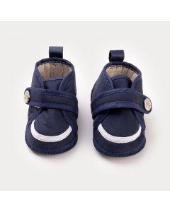 Tênis Azul Marinho para Bebê Menino Âncora