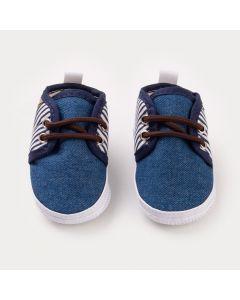 Tênis Jeans para Bebê Menino com Listras