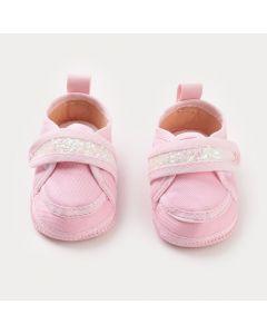 Tênis para Bebê Menina Rosa com Brilho