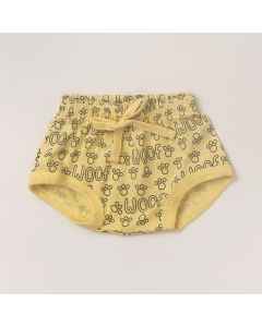 Tapa Fralda Masculino Amarelo Estampado