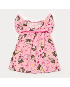Vestido para Bebê Menina Bailarina Rosa