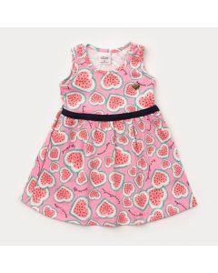 Vestido para Bebê Menina Melancia Rosa