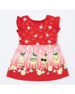 Vestido Vermelho Limãozinho para Bebê