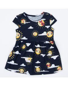 Vestido Marinho para Bebê Solzinho