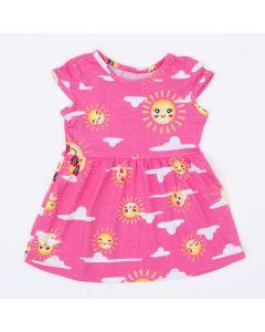 Vestido Rosa para Bebê Solzinho