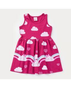 Vestido Pink Infantil Nuvenzinhas