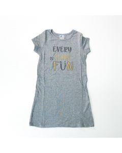 Vestido Cinza Estampado Infantil Feminino