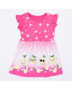 Vestido Rosa Limãozinho Infantil