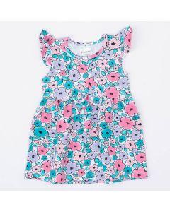 Vestido para Bebê Estampado de Florzinhas