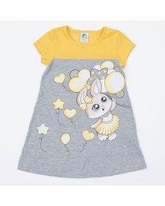 Vestido Amarelo Infantil Coelhinho