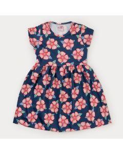 Vestido Infantil Feminino Marinho Floral