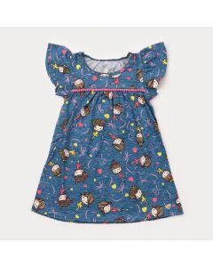 Vestido Infantil Bailarina Azul