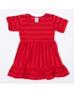 Vestido de Festa Vermelho Infantil