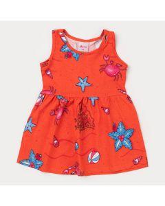 Vestido Laranja para Bebê Menina Siri