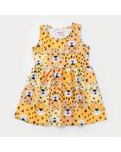 Vestido Regata Amarela Oncinha Infantil