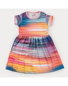 Vestido Infantil Feminino Aquarela Colorida