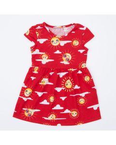 Vestido Vermelho Solzinho Infantil
