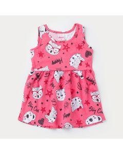 Vestido Regata Rosa Bichinhos para Bebê Menina