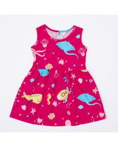 Vestido Infantil Pink Peixinhos