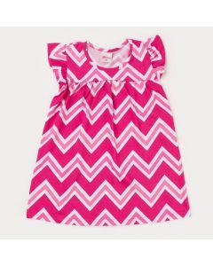 Vestido para Bebê Menina Rosa Estampado
