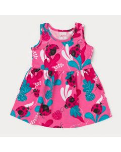 Vestido Rosa para Bebê Menina Joaninha
