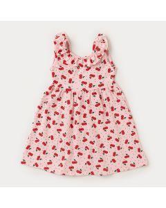 Vestido Rosa Cereja para Menina