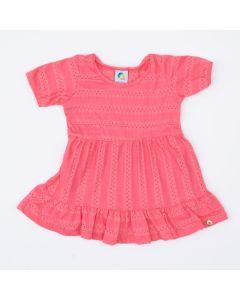 Vestido de Festa Rosa para Bebê
