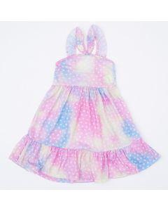 Vestido de Alcinha Rosa Tie Dye para Menina