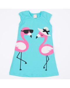 Vestido Infantil Verde Água Flamingo