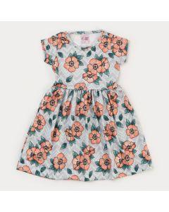 Vestido Florido Infantil Feminino Verde