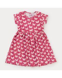 Vestido Vermelho Borboleta Infantil Feminino