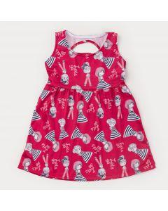 Vestido Regata Vermelho Infantil Boneca