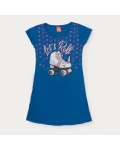 Vestido Azul Infantil Estampado