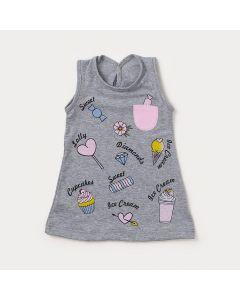 Vestido de Bebê Mescla com Estampas