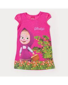 Vestido Infantil Pink Masha e o Urso