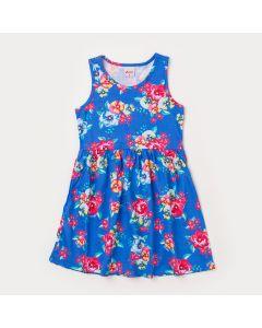 Vestido Infantil Regata Azul Florida