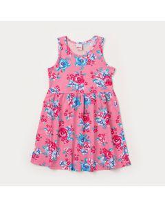 Vestido Infantil Regata Rosa Florida