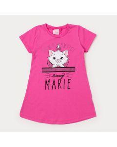 Vestido Infantil Rosa Gatinha Marie