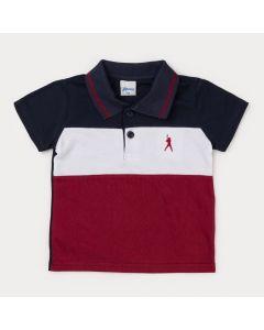 Camisa Polo para Menino Marinho