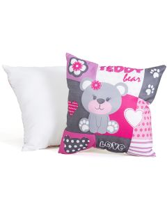 Almofada Decorativa com Estampa Teddy Love